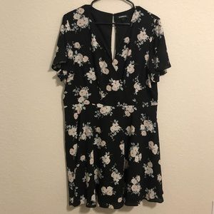 Express Surplice Mini Dress